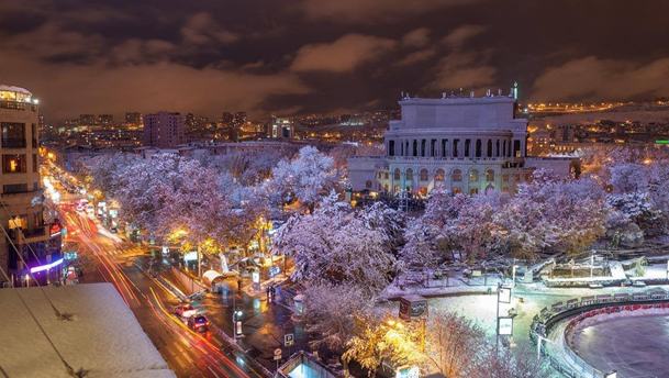 Armenia winter tourism in Yerevan